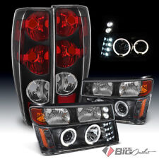 For 04-12 Colorado/Canyon, 06-08 i-Series Blk Projector Headlights + Tail Lights