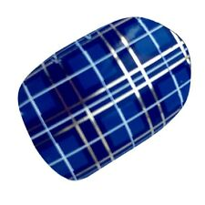 SCOTTISH Blue Tartan Scotland Flag Nail Wraps Vinyl Salon Quality Stickers Chix