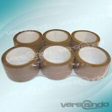 6 Rollen Paket Klebeband 66m x 5cm braun Packband Paketband Packetband Acryl PP