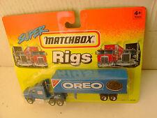 1994 MATCHBOX SUPER RIGS BLUE CAB FORD AEROMAX TRUCK & TRAILER NABISCO OREO NEW