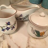 Vintage Citation Woodhill China Creamer Sugar And Gravy Boat Set Of Four Pieces