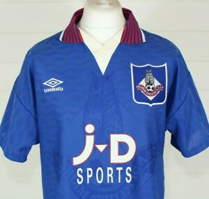 OLDHAM ATHLETIC 1995 1996 Home Shirt Football Soccer Jersey UMBRO M Blue