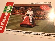 DYNAMOW Ride On Mowers Original 1980s Rare Vintage Brochure