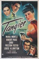 TANGIER SABU MARIA MONTEZ WITH GUN 1946 1-SHEET