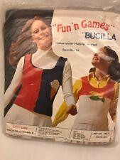 Bucilla Sweater Vest Pullover Kit Fish Ice Cream Cone Tree or Sailboat Sz 8-14