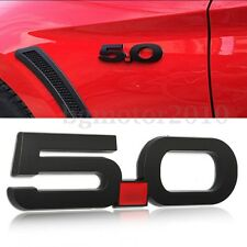 Black 3D 5.0 Mudguard Emblem Badge Metal Decal For Ford Mustang 5.0 GT 2015-2016