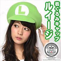 SAZAC Kigurumi Cap Super Mario Bros Luigi Cosplay Costume Party Plush Kawaii