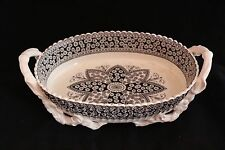COPELAND 19th C. Primrose Pattern Black Transferware CENTERPIECE FRUITS BOWL