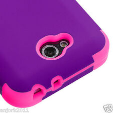 LG OPTIMUS L90 D415 TMOBILE METRO HYBRID T ARMOR CASE SKIN COVER PURPLE PINK