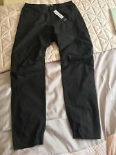 Stone Island Men's Black Parachute Material Combat Pants In 30 Inch Waist Bnwt