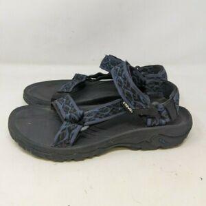 Teva Hurricane Sandals Men's Size 8 US Blue Wavy Trail Black 4156 Hook & Loop