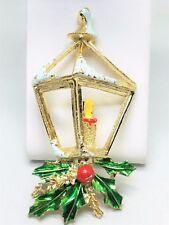 Gerrys Christmas Lantern Light Enamel Vintage Pin Brooch Active
