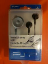 Sony PlayStation Portable Headphones with Remote Control White PSP140 new