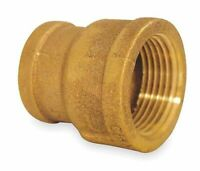 "ZORO SELECT 6RCY7 1/2"" x 1/4"" FNPT Red Brass Reducing Coupling"