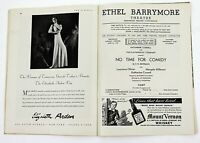 Playbill Ethel Barrymore Theatre BROADWAY No Time For Comedy Laurence Olivier'39