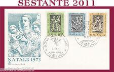 ITALIA FDC CAPITOLIUM 224 NATALE AGOSTINO DI DUCCIO 1973 ANNULLO ROMA G465