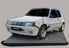 MODEL CARS, PEUGEOT 205 RALLY-01 with Clock