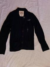 Hollister Mens Navy Blue Cotton Blend Cardigan Size M BNWT
