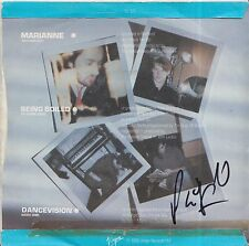 """PHIL OAKEY HAND SIGNED HUMAN LEAGUE 7"""" VINYL HOLIDAY 80 / BEING BOILED."""