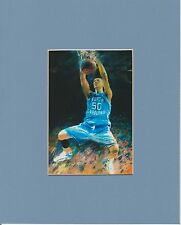 UNC TAR HEELS TYLER HANSBROUGH CAROLINA BLUE MATTED ART PRINT #2