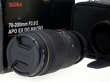Sigma 70-200mm F2.8 APO EX DG HSM Nikon FX Macro lens caps case filter boxed