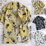 Mens Tropical Floral Summer Holiday Hawaiian T-Shirt Aloha Party Blouse Tops Tee