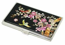 MOP Business credit card holder ID name card case Japanese apricot flower design