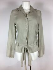 KRISTENSEN DU NORD Taupe Gray Belted Jacket 1 - Made in Italy
