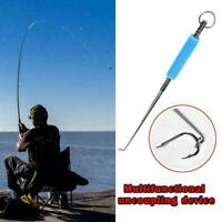 Fishing Universal Hook Remover Quick Knot Tying Loop Carabiner Clip. U3X3 X0A5