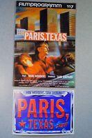 Filmprogramm Paris Texas, Wenders Stanton Kinski Cooder 24 S. 1984 + Werbekarte!