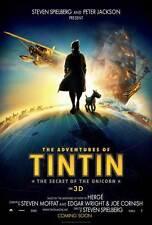 THE ADVENTURES OF TINTIN: THE SECRET OF THE UNICORN Movie POSTER 27x40