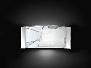 Applique in Metallo Con Vetro Decorato Articolo Perenz 5944 33x7,5x16 cm 1 Luce