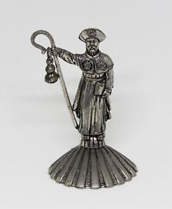 Figurine Of Metal Gift Christian Santiago, Road Of Santiago Compostela. Vintage