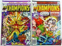 Marvel CHAMPIONS (1976) #8 VG/FN + #12 VF- LOT Hercules BLACK WIDOW Ships FREE!