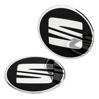 4 SEAT Nabendeckel Felgen Aufkleber 60 mm Alufelgen Emblem Logo Felgenaufkleber