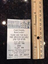 DISNEYLAND HAUNTED MANSION FASTPASS FAST PASS