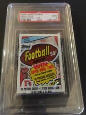PSA 9 1984 Topps Cello Pack (JOHN ELWAY Rookie on top) Low Population