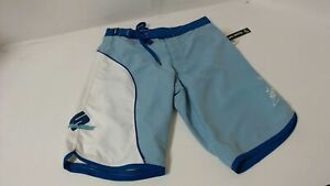 New Genuine SeaDoo Womens Lilypad Board Shorts Size 26 Blue White Quick-Dry