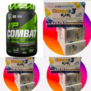 Muscle Pharm Combat Protein Powder - 'Dated' REDUCED DEAL + Vitamins Bundle!