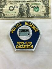 Rarer Casselton North Dakota Reserve Police Patch un-sewn in great shape