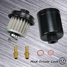 High Flow Washable Fuel Filter Fit For Honda Acura B18 B16 D15 D16 H22 F22BLACK