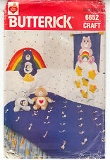 Care Bear Room Headboard Wall Hanging Cover Butterick Sew Pattern 6652 Uncut