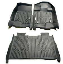 For 15-19 F150 Crew Cab 3D Floor Mat All Weather Protection TPE Liners Covers