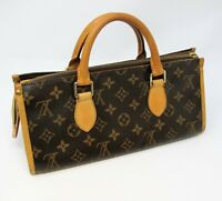 Louis Vuitton Handbag Popincourt Monogram Canvas and Leather Top Handles Brown