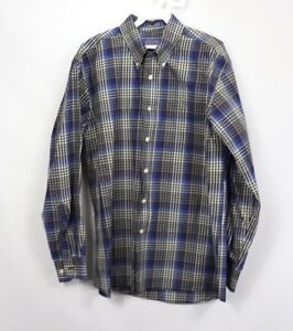 Pendleton Mens Large Long Sleeve Multi-Color Plaid Metro Shirt Button Down Shirt