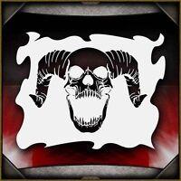 """Skull 15"" Airbrush Stencil Template Airsick"