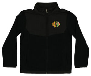 Outerstuff NHL Youth (4-18) Chicago Blackhawks Zip Up Fleece Jacket