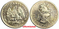 Mexico Silver 1885 Zs S  25 Centavos Low Mintage-309,000 KM# 406.9