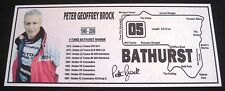 """Peter Brock Silver picture  Plaque """" Bathurst Latest and the BEST"""""""