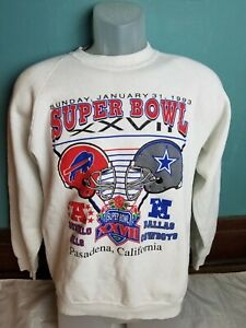 Vintage Super Bowl Sweatshirt 1993 Buffalo Bills Vs. Dallas Cowboys Men's M